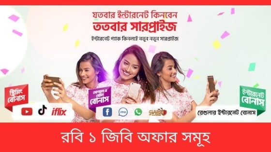Robi 1GB Internet Offer