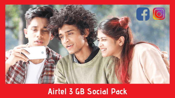 Airtel 3 GB Social Pack