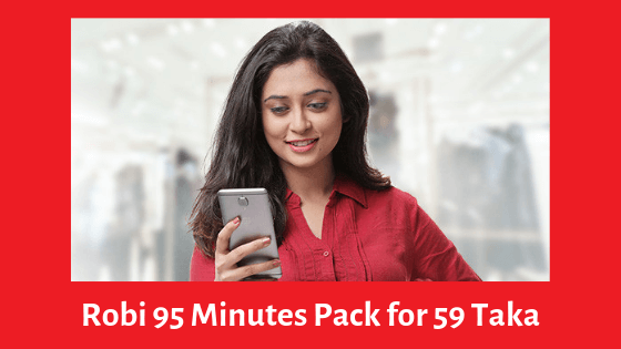 Robi 95 Minutes Pack for 59 Taka
