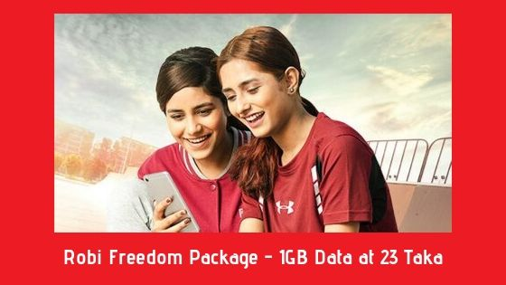 Robi Freedom Package - 1GB Data at 23 Taka
