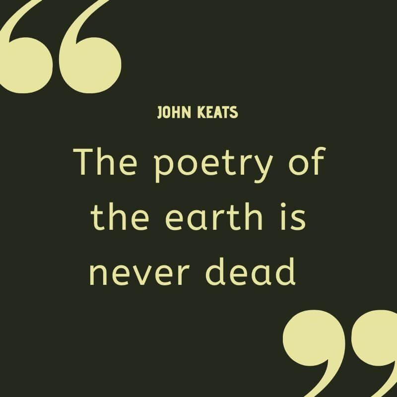 John Keats Nature Quotes