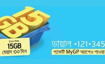 GP 15GB Internet Offer at TK 498