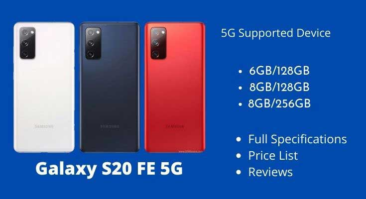 Galaxy S20 FE 5G Full Specifications