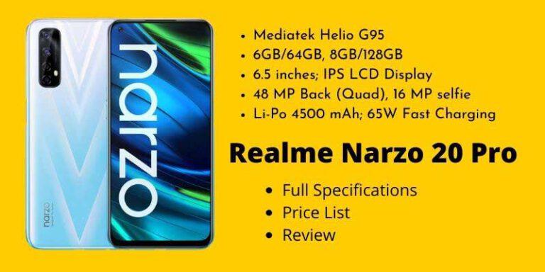 Realme Narzo 20 Pro Full Specifications
