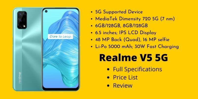 Realme V5 5G Full Specifications