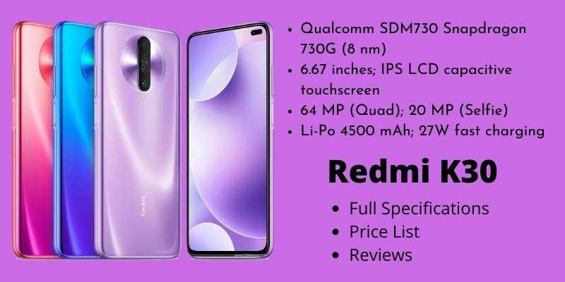 Redmi K30 Full Specifications