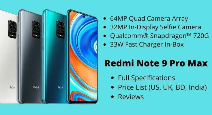 Redmi Note 9 Pro Max – Full Specifications