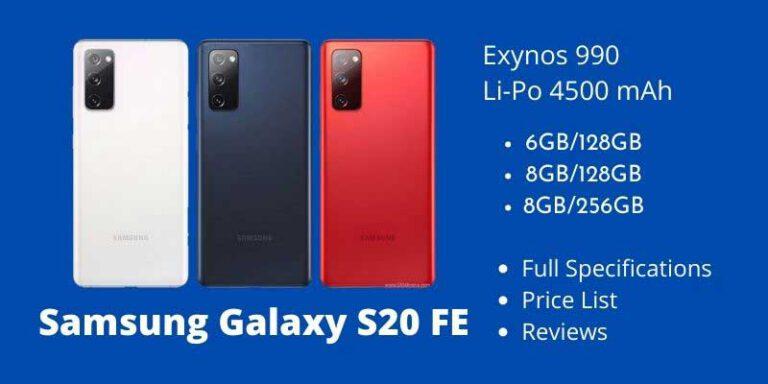Samsung Galaxy S20 FE Full Specifications