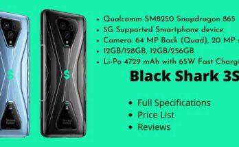 Xiaomi Black Shark 3S - Full Specifications