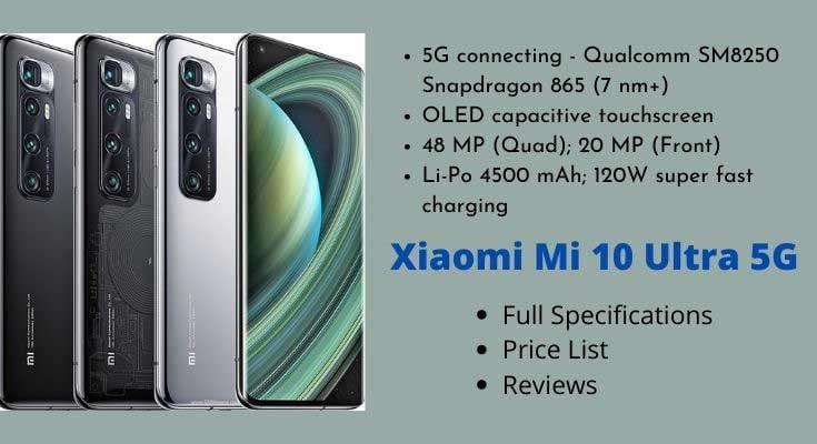 Xiaomi Mi 10 Ultra 5G – Full Specifications