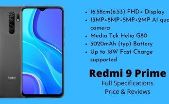 Xiaomi Redmi 9 Prime - Full Specifications