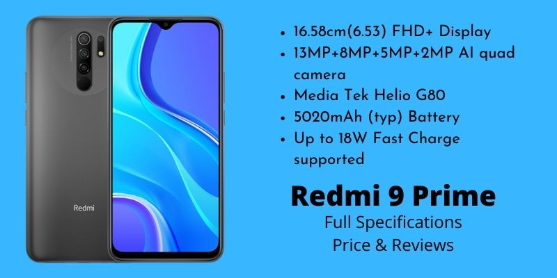 Xiaomi Redmi 9 Prime - Full Specifications