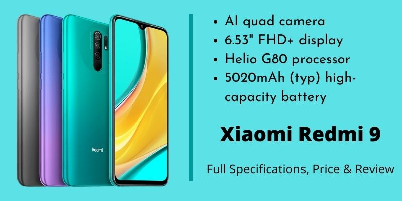 Xiaomi Redmi 9 Specs Price Reviews
