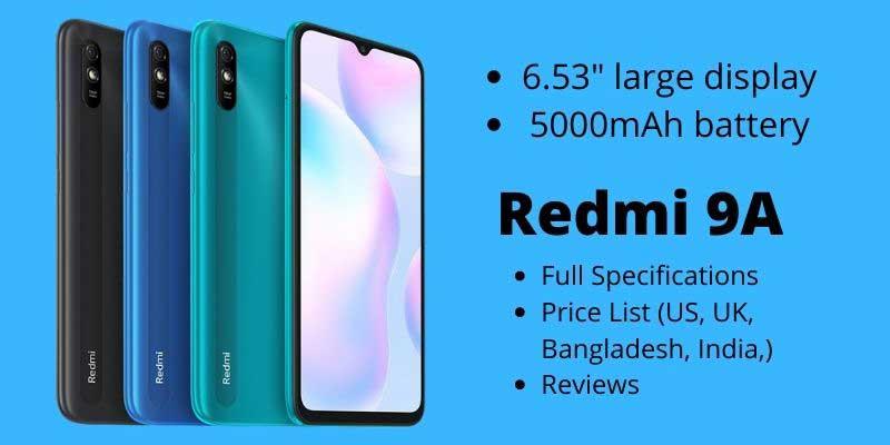 Xiaomi Redmi 9A – Full Specifications