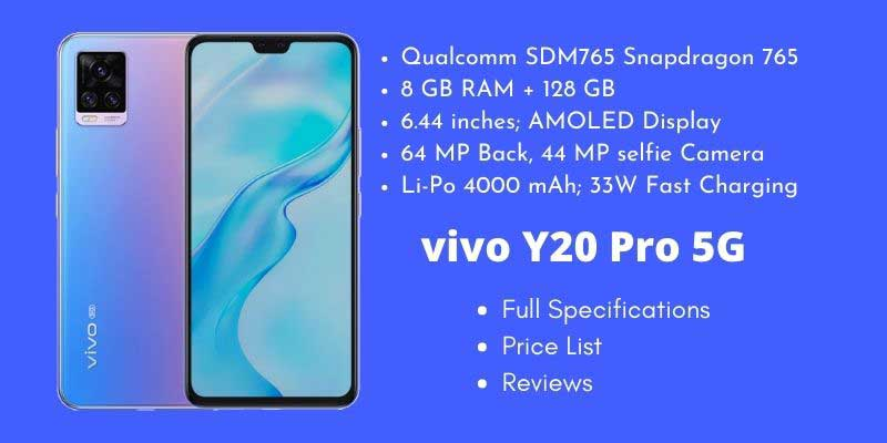 vivo V20 Pro 5G Full Specifications
