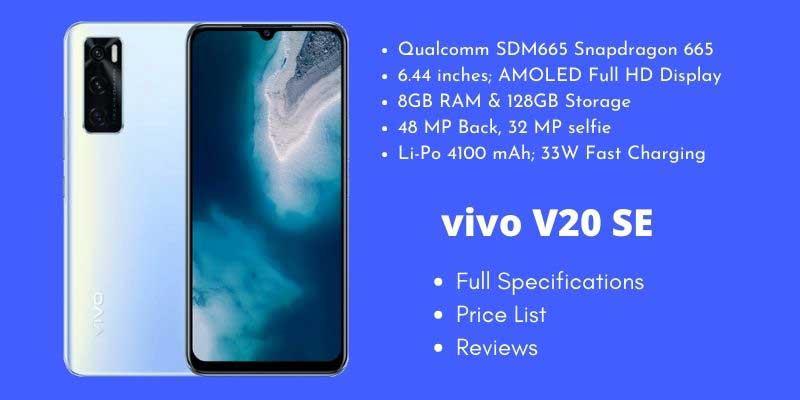 vivo V20 SE Full Specifications