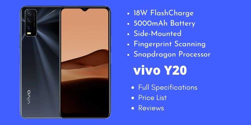 vivo Y20 Full Specifications