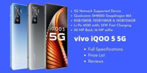 vivo iQOO 5 5G Full Specifications