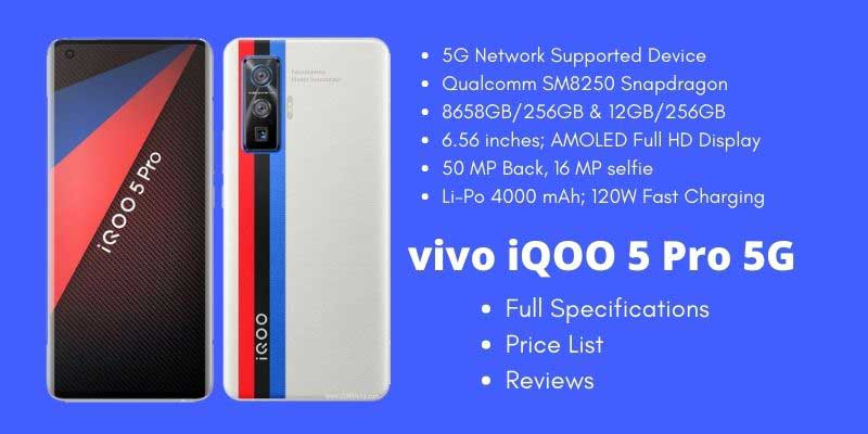 vivo iQOO 5 Pro 5G Full Specifications