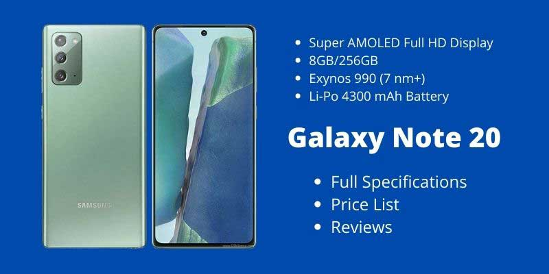 Samsung Galaxy Note 20 Full Specifications