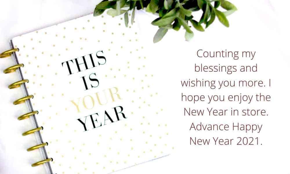 Advance Happy New Year 2021 WhatsApp Wishes
