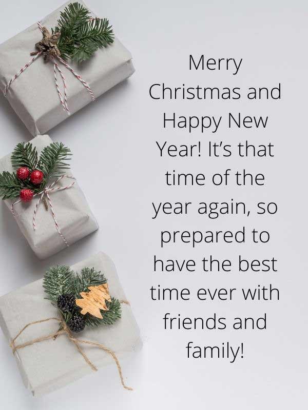 Merry Christmas and Happy New Year Wishing