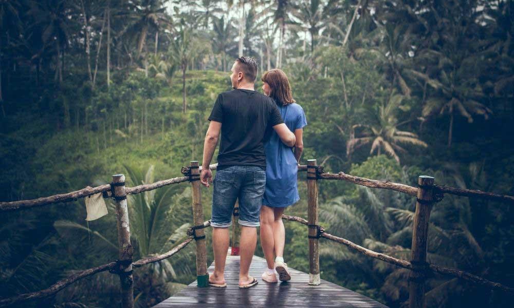 Boyfriend and Girlfriend Enjoying Nature