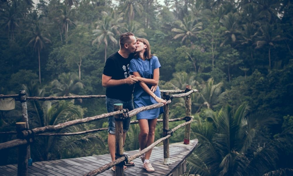Boyfriend and Girlfriend Kissing