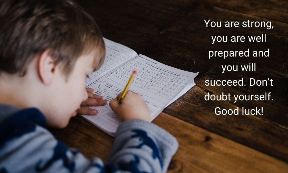 Exam Wishes Message for Students