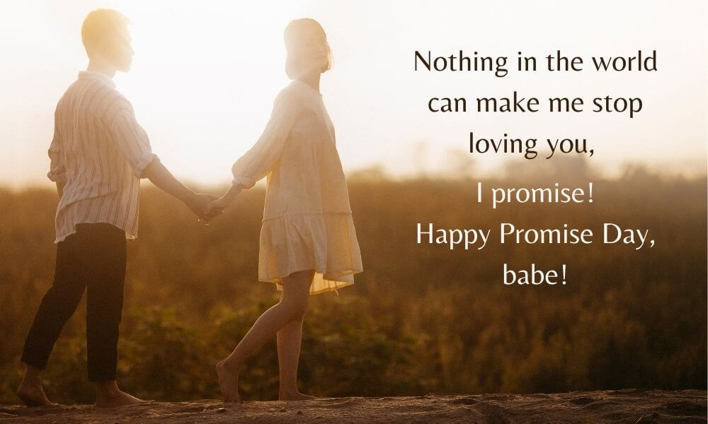 Happy Promise Day Message for GF