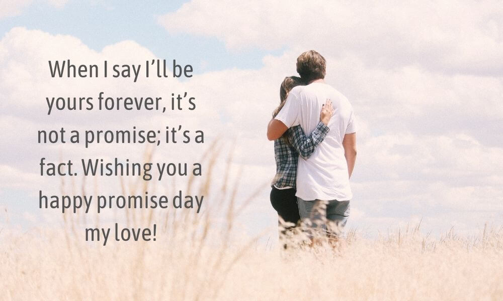 Happy Promise Day Wish for Lover
