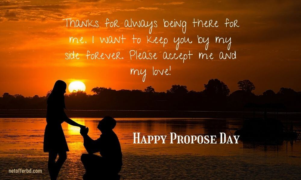 Happy Propose Day Line for Lover