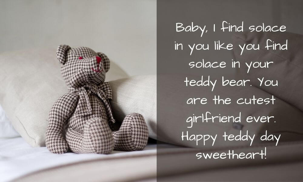 Happy Teddy Day Message for GF