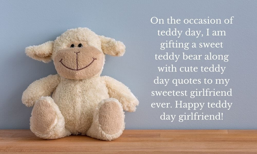 Happy Teddy Day Quote for Girlfriend