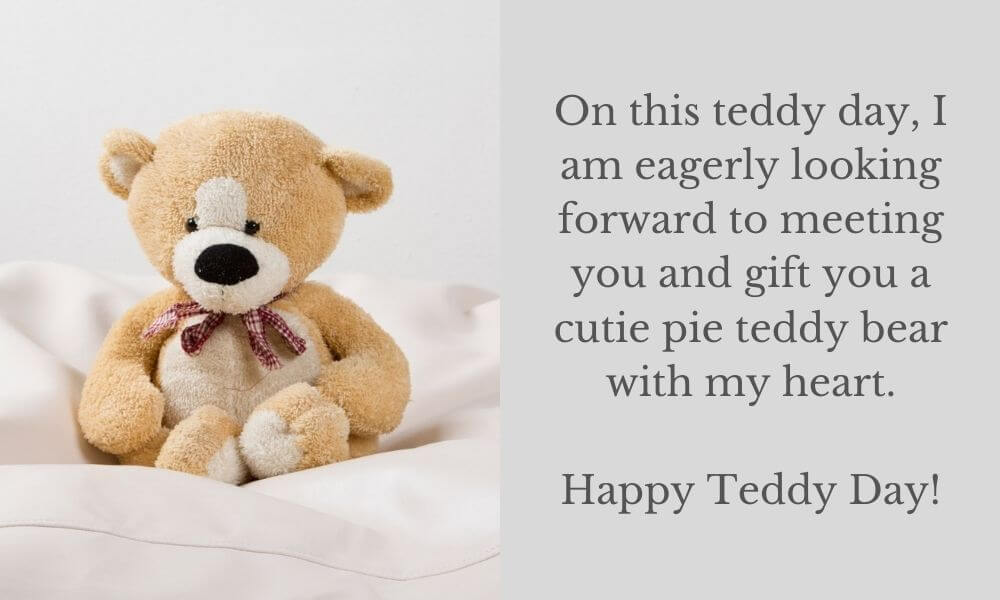 Happy Teddy Day Text Message for GF