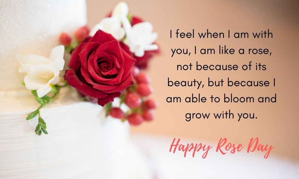 Rose Day Message Greeting for My Wife