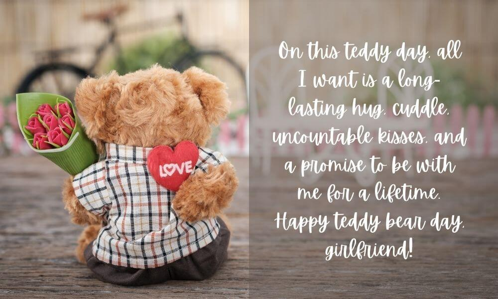 Teddy Day Quote for Girlfriend
