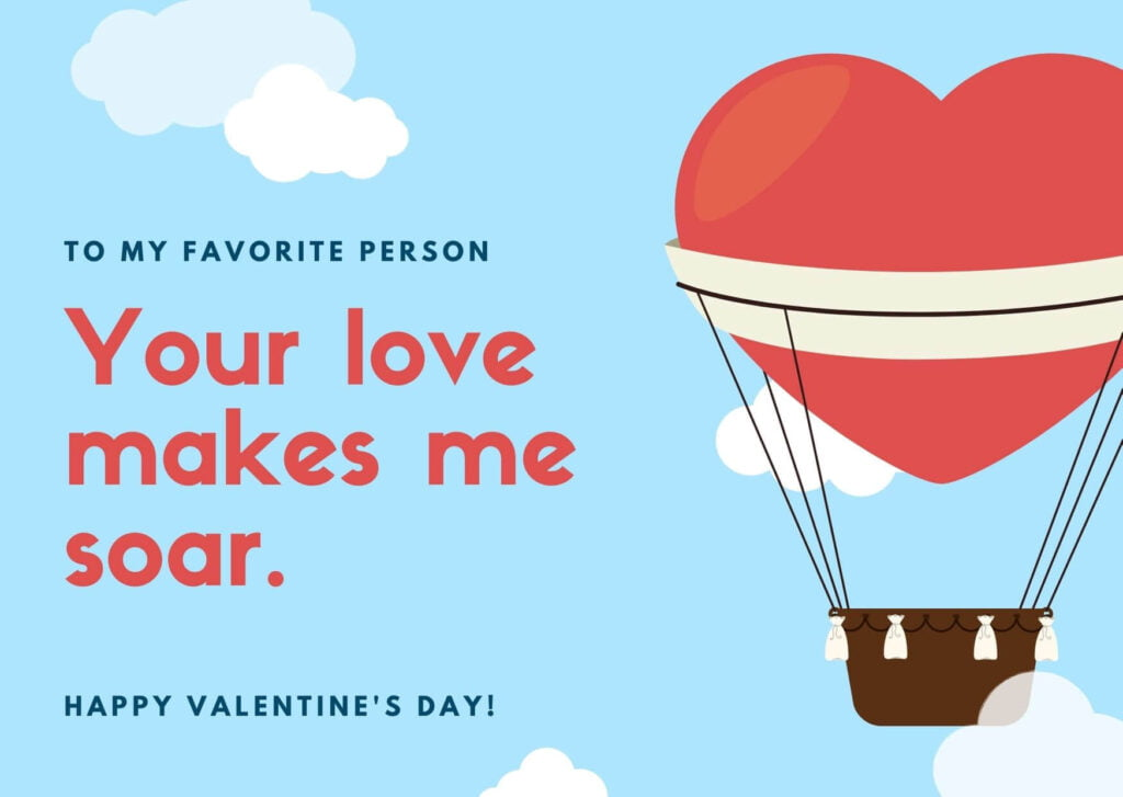 Valentine's Day Card Wish for Lover