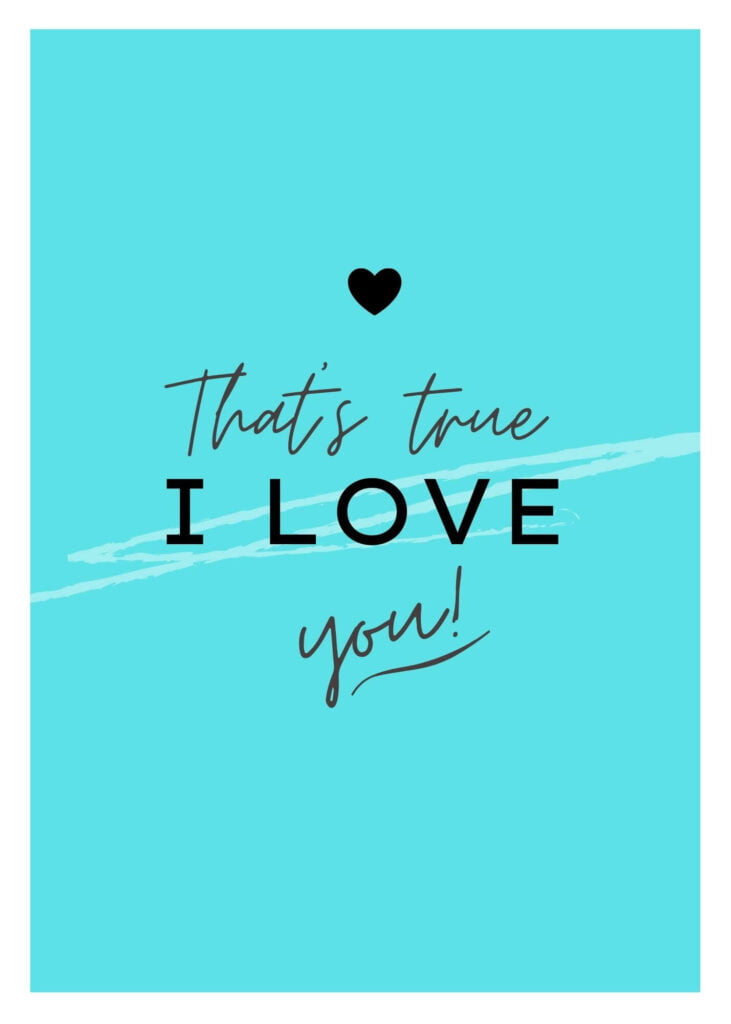 Valentine's Day Card with I Love You