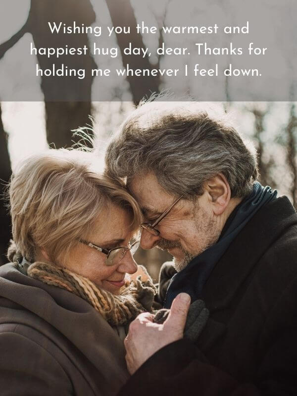 Happy Hug Day Quote for Husband