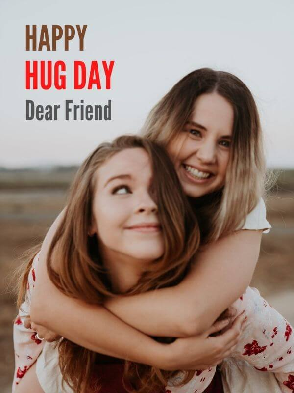 Happy Hug Day Wish For Best Friend