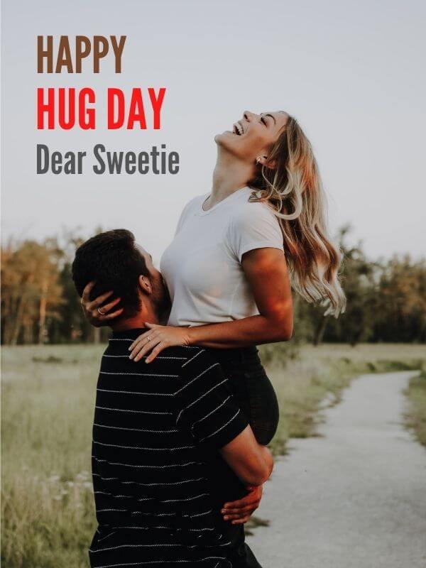 Happy Hug Day Wish for Girlfriend