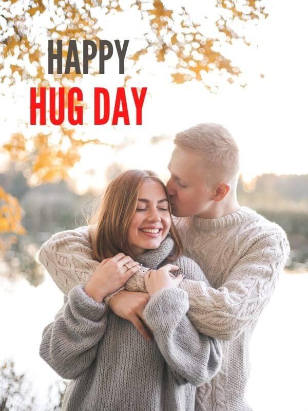 Happy Hug Day Wish for HIM