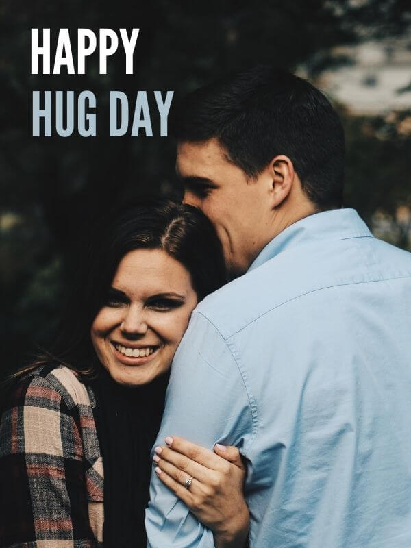 Happy Hug Day Wish for Handsome