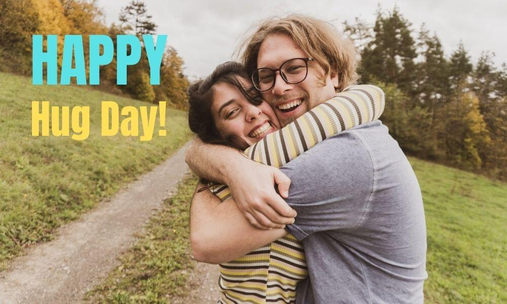 Happy Hug Day Wishing Image for Boyfriend