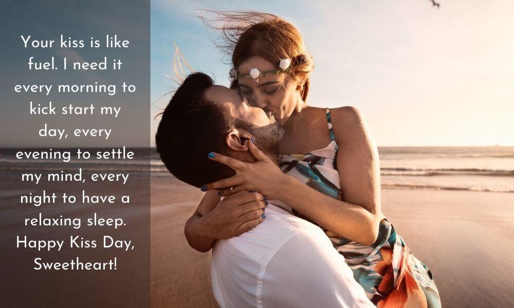 Happy Kiss Day Message for Boyfriend