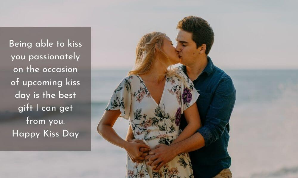 Happy Kiss Day Quote for Girlfriend