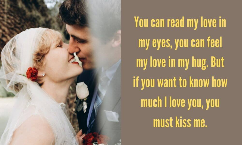 Happy Kiss Day Quote for Wife