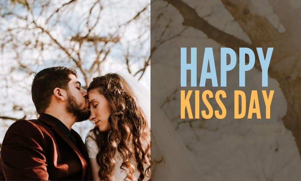 Happy Kiss Day Wishing Image for GF