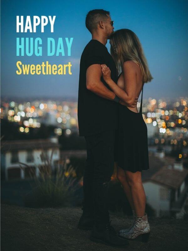 Hug Day Wish for Girlfriend